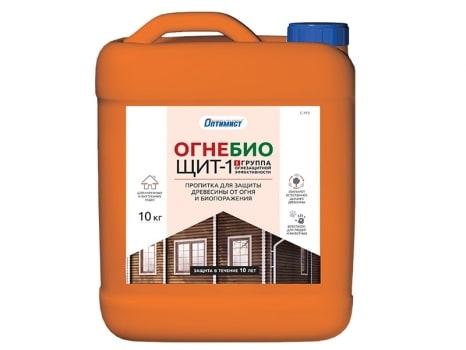 Пропитка ОГНЕ-БИОЩИТ-1 для защиты древесины от огня и биопоражения I и II группы огнезащитной эффективности