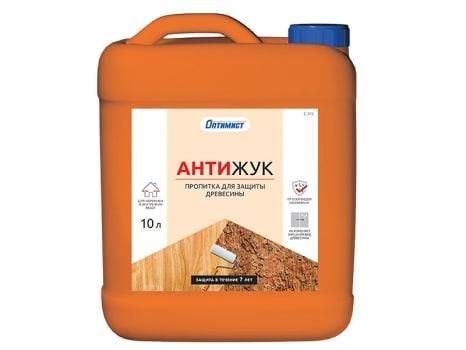 Пропитка АНТИЖУК для защиты древесины для наружных и внутренних работ