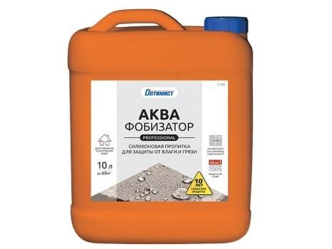 Пропитка силиконовая АКВАФОБИЗАТОР ПРОФЕССИОНАЛЬНЫЙ для защиты от влаги и грязи
